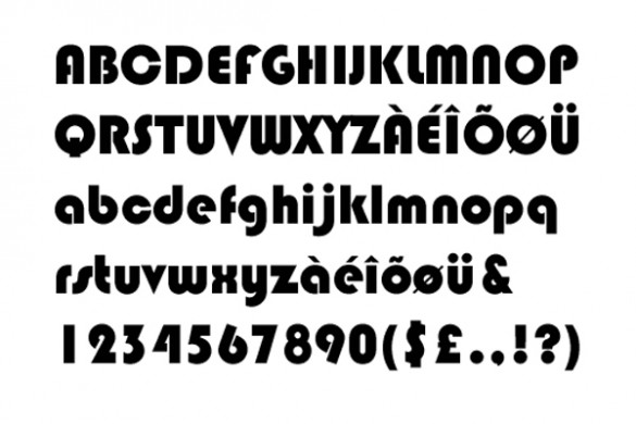 Tipografia Bauhaus 93