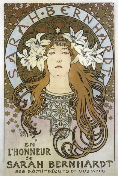1897 Poster of Sarah Bernhardt for 'La Plume' Magazine lithograph 69 x 51 cm